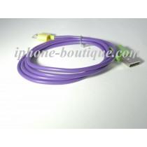 Câble usb 1 mètre de couleurs charge et synchronisation iphone