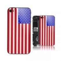 Vitre arrière drapeau USA iPhone 4