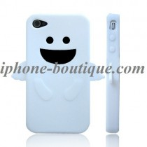 Coque de protection ange blanc silicone iphone 4 et 4s