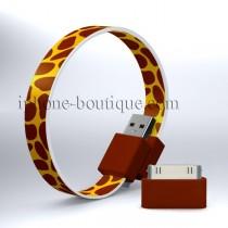 Câble bracelet usb girafe pour iPhone / micro usb