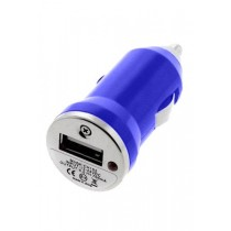 Chargeur USB allume cigare bleu iPhone