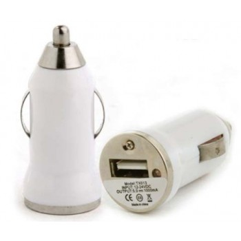 Chargeur USB allume cigare blanc iPhone
