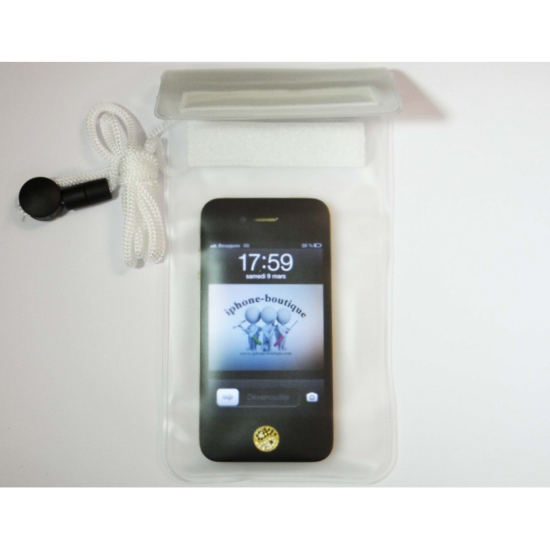 Housse tui pochette tanche t l phone portable iphone et for Housse etanche iphone