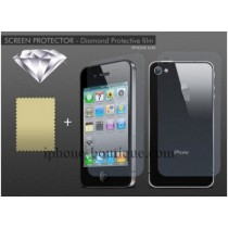 "★ iPhone 4/4S ★ Films de protection ""diamant"" (AVANT+ARRIERE)"
