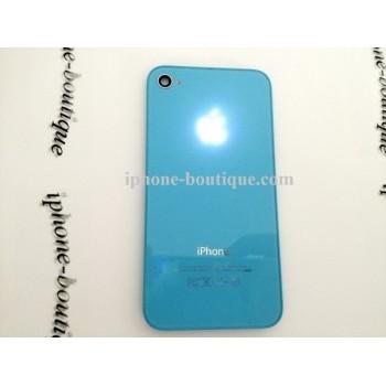 Vitre arrière lumineuse bleu logo lumineux iphone 4