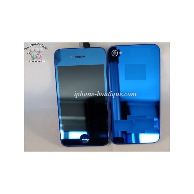 Kit complet de transformation pour iphone 4 bleu miroir for Application miroir pour iphone