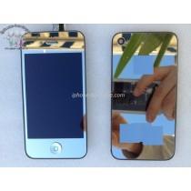 ★ iPhone 4 ★ Kit complet (Avant-Arrière) ARGENT MIROIR