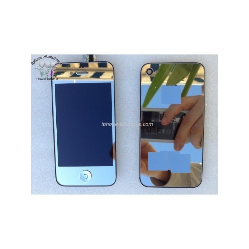 Kit complet de transformation ecran iphone 4 argent miroir for Ecran en miroir