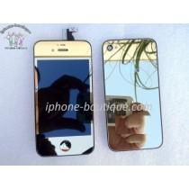 ★ iPhone 4S ★ Kit complet (Avant-Arrière) OR MIROIR