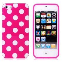 Coque rigide à pois blanc sur fond Rose - iPhone 5 / 5S