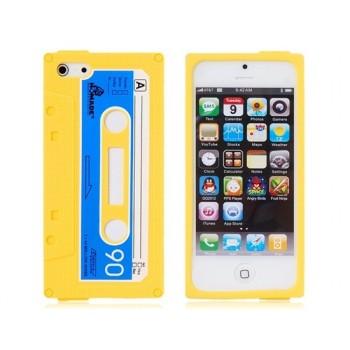 Coque Casette en silicone Jaune - iPhone 5C/5S