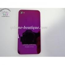 ★ iPhone 4S ★ Vitre arrière violet miroir