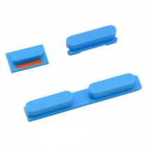 3 boutons: Power, mute, volume (bleu) - iPhone 5C