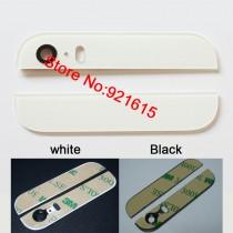 vitre arrière haut et bas iPhone 5s blanc lentille et sticker pré collé