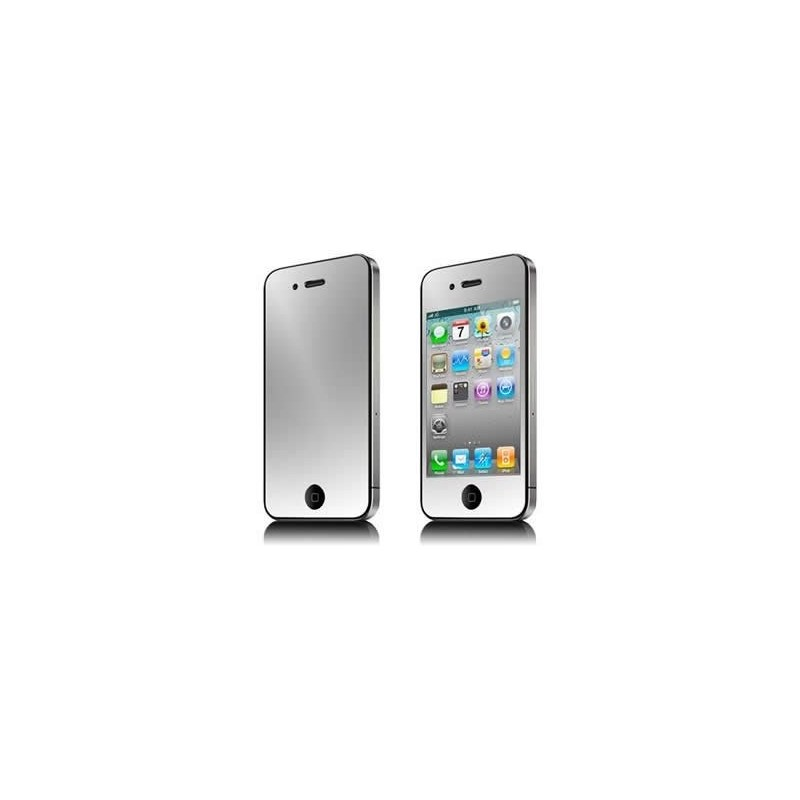 Film miroir de protection avant pour iphone 4 et 4s for Application miroir pour iphone