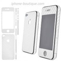autocollant carbone blanc sticker carbone blanc iphone 4 4s