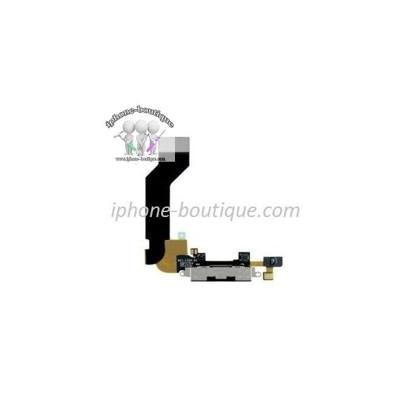 nappe connecteur de charge usb noir micro haut parleur iphone 4 s. Black Bedroom Furniture Sets. Home Design Ideas