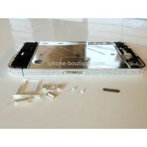 ★ iPhone 4 ★ Châssis argent incrustés de pierres de swarovski