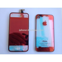 kit complet de transformation vitre iphone 4 rouge transparent miroir