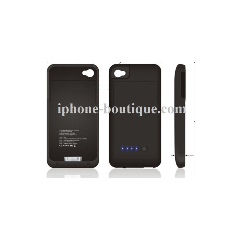 coque rechargeable batterie externe pour iphone 4 et 4s. Black Bedroom Furniture Sets. Home Design Ideas
