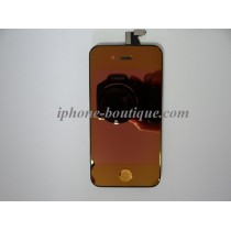 ★ iPhone 4 ★ Bloc complet ( Vitre tactile + Écran LCD ) ORANGE MIROIR