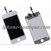 Bloc complet vitre tactile + ecran lcd ipod touch 4 blanc