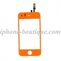 Vitre avant tactile orange pour iphone 3gs