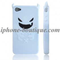 Coque de protection en silicone Diable blanc - iPhone 4 / 4S