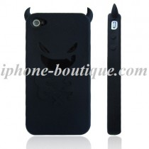 Coque de protection en silicone Diable Noir - iPhone 4 / 4S