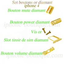 Set boutons or diamant iphone 4