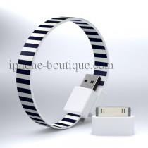 Câble bracelet usb zèbre pour iPhone / micro usb
