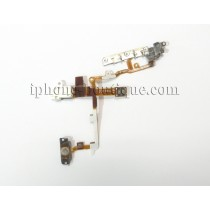 ★ iPhone 3G/3GS ★ Nappe jack,volume,mute,power prémontée blanche