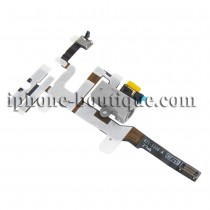 ★ iPhone 4S ★ Nappe prise jack volume mute vibreur blanche
