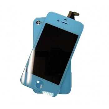 ★ iPhone 4S ★ Kit complet (Avant-Arrière) BLEU