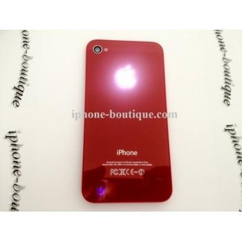 ★ iPhone 4 ★ Vitre arrière lumineuse rouge
