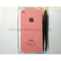 ★ iPhone 4 ★ Vitre arrière lumineuse ROSE