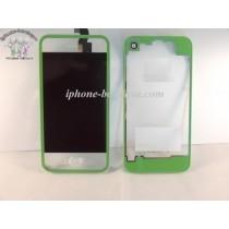 ★ iPhone 4 ★ Kit complet (Avant-Arrière) VERT TRANSPARENT
