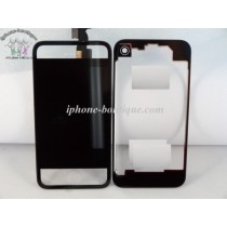 ★ iPhone 4 ★ Kit complet (Avant-Arrière) NOIR TRANSPARENT