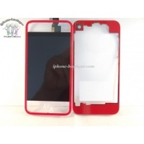 ★ iPhone 4 ★ Kit complet (Avant-Arrière) ROUGE TRANSPARENT