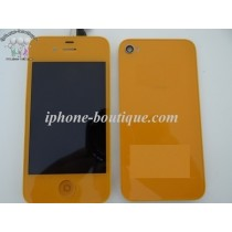 ★ iPhone 4 ★ Kit complet (Avant-Arrière) ORANGE