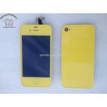 ★ iPhone 4 ★ Kit complet (Avant-Arrière) JAUNE