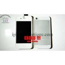 ★ iPhone 4 ★ Kit complet STYLE iPhone 5,5C,5S av/arr blanc