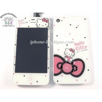 ★ iPhone 4 ★ Kit complet (Avant-Arrière) HELLO KITTY