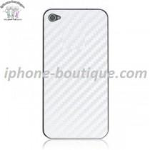 ★ iPhone 4S ★ Vitre arrière CARBONE BLANC