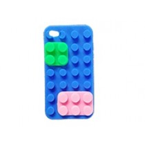 Coque Block en silicone Bleue - iPhone 4 / 4S