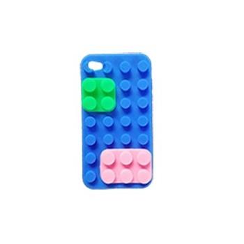 ★ iPhone 4/4S ★ Coque Lego Bleue