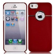 Coque design Bordeaux  avec contour chromé - iPhone 4 / 4S