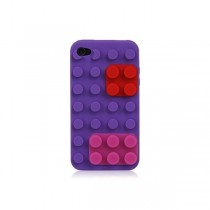 Coque Block en silicone Violette - iPhone 4 / 4S