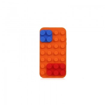 Coque Block en silicone Orange - iPhone 4 / 4S