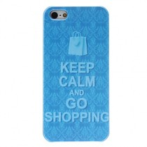 "Coque rigide ""Keep calm and go Shopping""  - iPhone 5 / 5S"